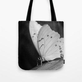 Papillon B/W Tote Bag