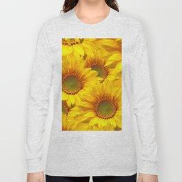 Yellow Mellow Sunflower Bouquet #decor #society6 #buyart Long Sleeve T-shirt