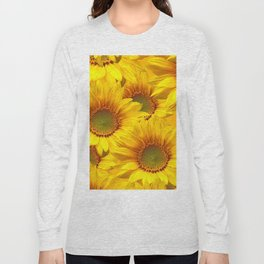 Yellow Mellow Sunflower Bouquet #decor #society6 #buyart Long Sleeve T-shirt