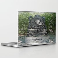 ganesha Laptop & iPad Skins featuring Ganesha by Lucia