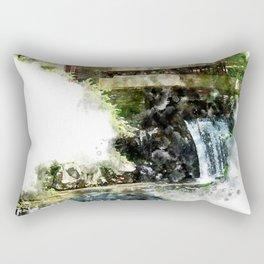 Fallingwater High, Watercolor Rectangular Pillow