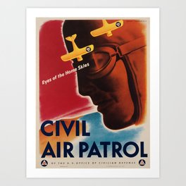 Vintage poster - Civil Air Patrol Art Print