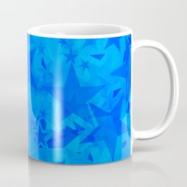 Calm intersecting heavenly stars on a blue background. Coffee Mug