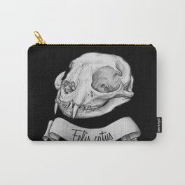 Cat skull in ink Carry-All Pouch