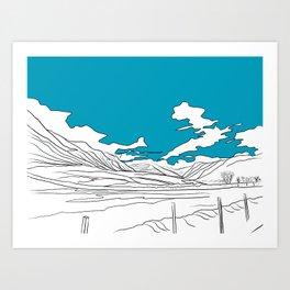 SCOTTISH HILLS Art Print