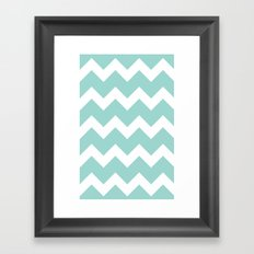 Chevron - Aqua Framed Art Print