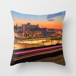 Sheffield at Night Throw Pillow
