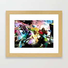 At your service (surreal/ music/ hip hop) Framed Art Print