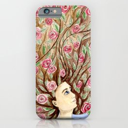 Rise Up Rose Daughter iPhone Case