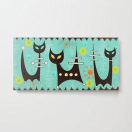 Atomic Cats Metal Print