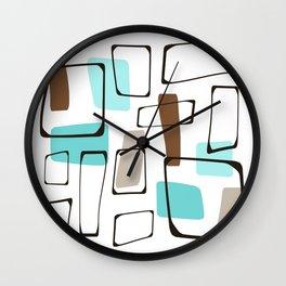 Midcentury Modern Shapes Wall Clock