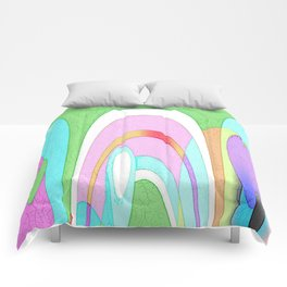 MODRIAN MINION ABSTRACT Comforters