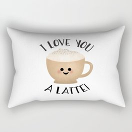 I Love You A LATTE! Rectangular Pillow