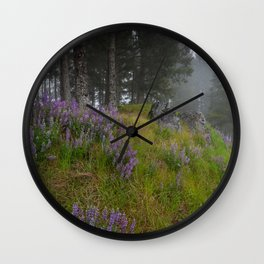Bald Hill Lupines Wall Clock