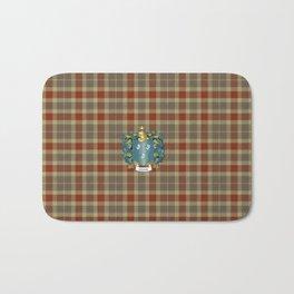 Gibson Coat of Arms and Tartan Bath Mat