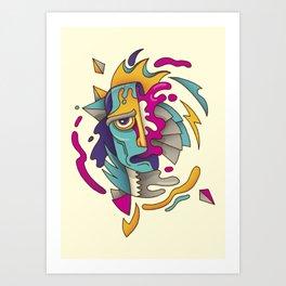 Abstarct Monsta Art Print