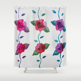 Vibrant Roses Shower Curtain