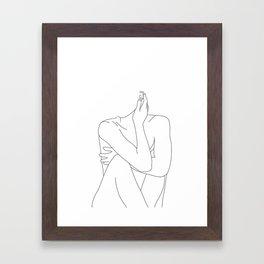 Nude life drawing figure - Celina Framed Art Print