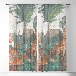 Beautiful Forest II Sheer Curtain