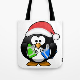Penguin with Gifts Tote Bag