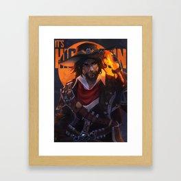 Van Helsing Mccree Framed Art Print