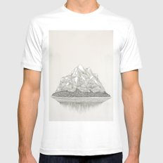 The Mountains and the Woods Mens Fitted Tee White MEDIUM