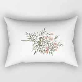 Small Floral Branch Rectangular Pillow