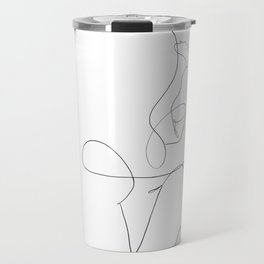 minimal line art - kiss Travel Mug
