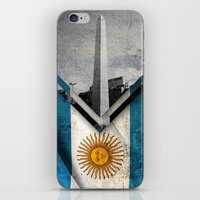 argentina iPhone & iPod Skins featuring Flags - Argentina by Ale Ibanez