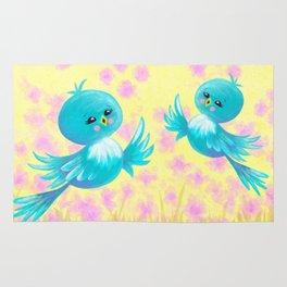 Bluebirds On My Mind Rug