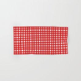 Red Gingham Hand & Bath Towel