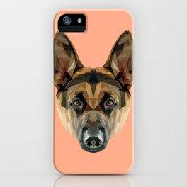 German Shepherd // Peach iPhone Case