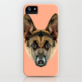 German Shepherd // Peach iPhone Case