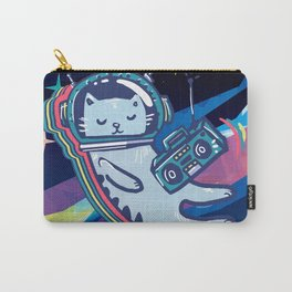 Light it Up Neon Cat Print Carry-All Pouch