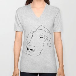 Great Dane Sketch Unisex V-Neck