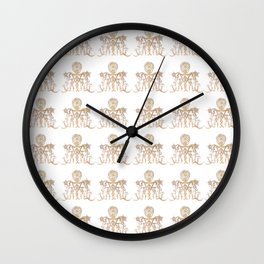 Indian henna in white background Wall Clock