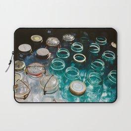 Ball Jars in Blue Laptop Sleeve