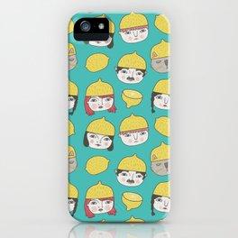 Pattern Project #10 /Lemon Hats iPhone Case