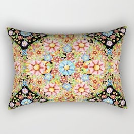 Boho Chic Millefiori Pattern Rectangular Pillow