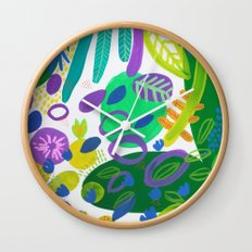 Between the branches. V Wall Clock