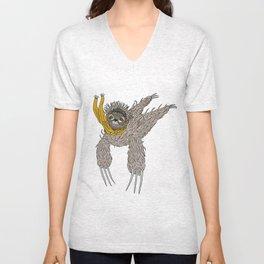 Impulsive Sloth Unisex V-Neck