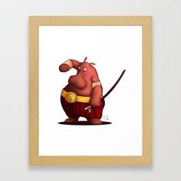 My Digital Zoo - Hippo Framed Art Print