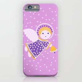 Angel on the pink iPhone Case