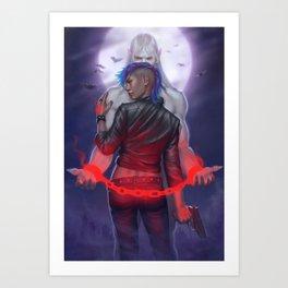 In the Darkness Bind Him Art Print