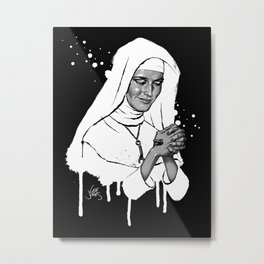 Eva Green (b&w variant) Metal Print