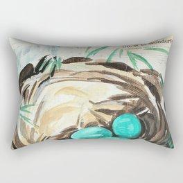 Robin Nest Rectangular Pillow