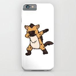 Funny Dabbing Hyena Dab Wild Animal Lover Gift iPhone Case