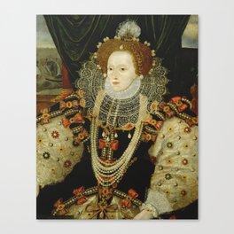Portrait of Elizabeth I Canvas Print