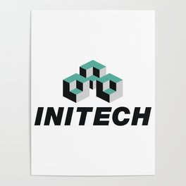 Initech Software Company Logo, Artwork For Tshirts, Posters, Stickers, Men, Women, Kids Poster