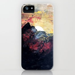 Arapahoe National Forest [2]: a colorful abstract mixed media mountain range iPhone Case
